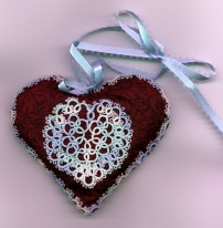 Valentine Heart A pattern designed for an internet tatting exchange Tatting