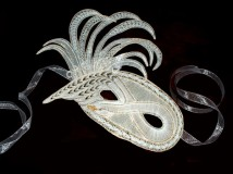 Mardi Gras Swan Mask 2004 I.O.L.I. Convention Competition (Harrisburg, PA) 1st Place - Original Design (earned 179 out of 180 points from the judges) Popular Vote Milanese