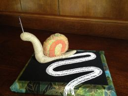 A Snail's Trail 2013 I.O.L.I. Convention Competition (Salt Lake City, UT) 2nd Place - Original Design Needle lace & Milanese
