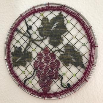 Grapes 2019 I.O.L.I. Convention Competition (Spokane, WA) 1st Place - Original Design Bobbin lace
